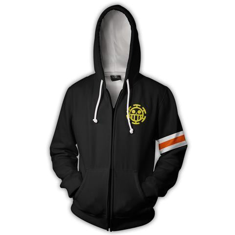 TRAFALGAR LAW CORAZON ZIP UP HOODIE - ONE PIECE HOODIE - Hoodielovers
