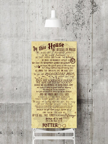 In This House... we believe in magic - Harry Potter Quotes