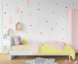 Pink Watercolor Dots Wall Stickers