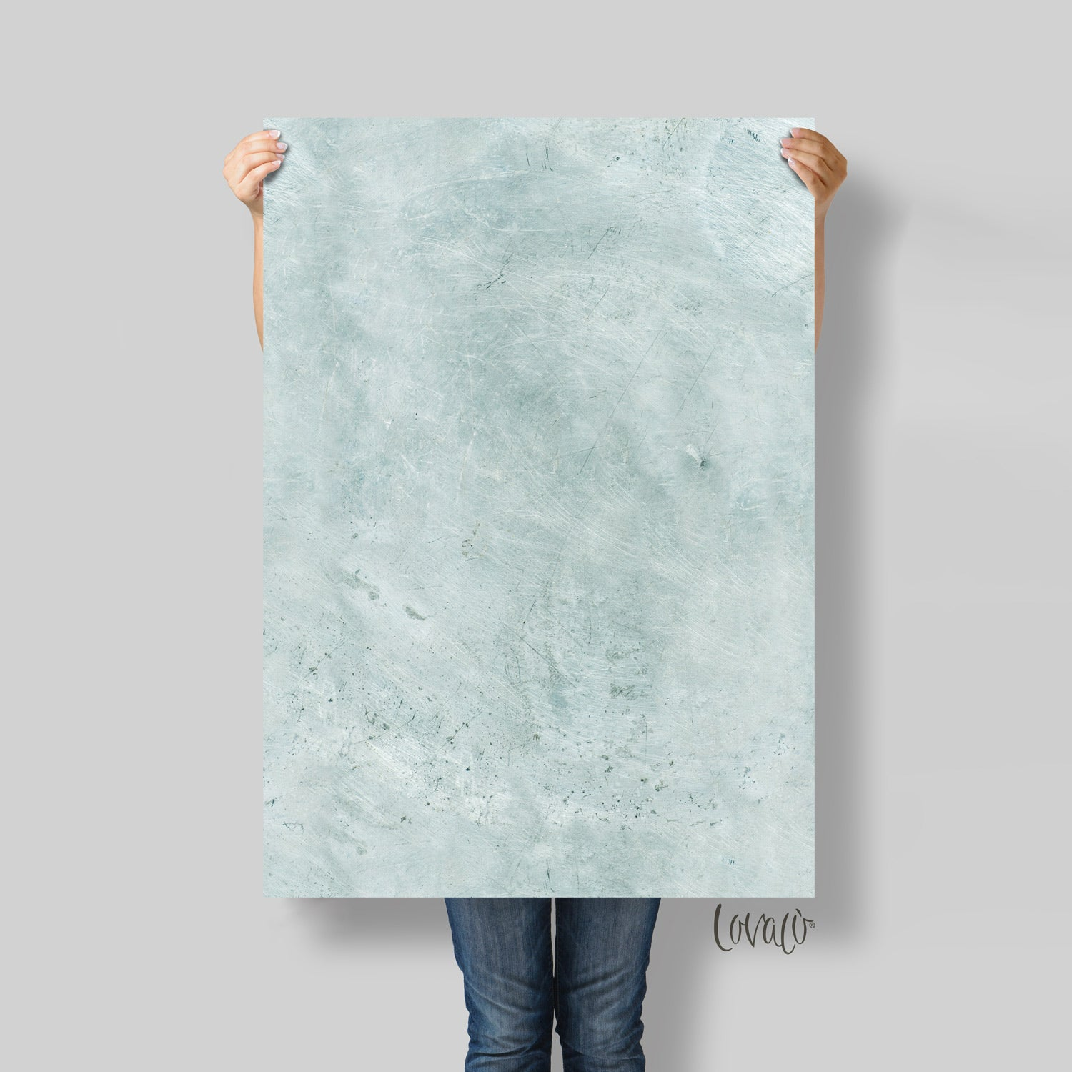Mint steel vinyl photography backdrop - lov 483