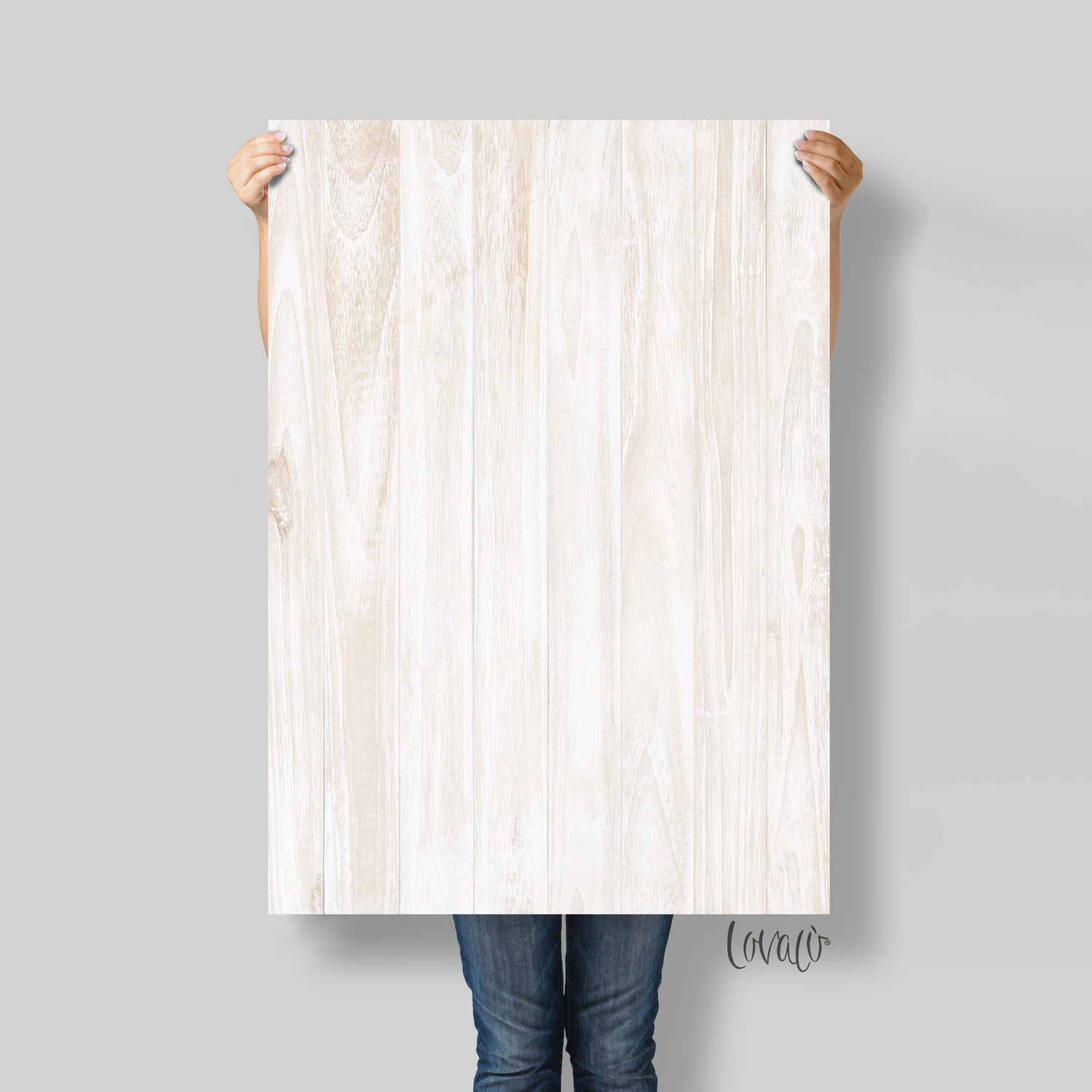 White Natural wood photography backdrop - Lov 727