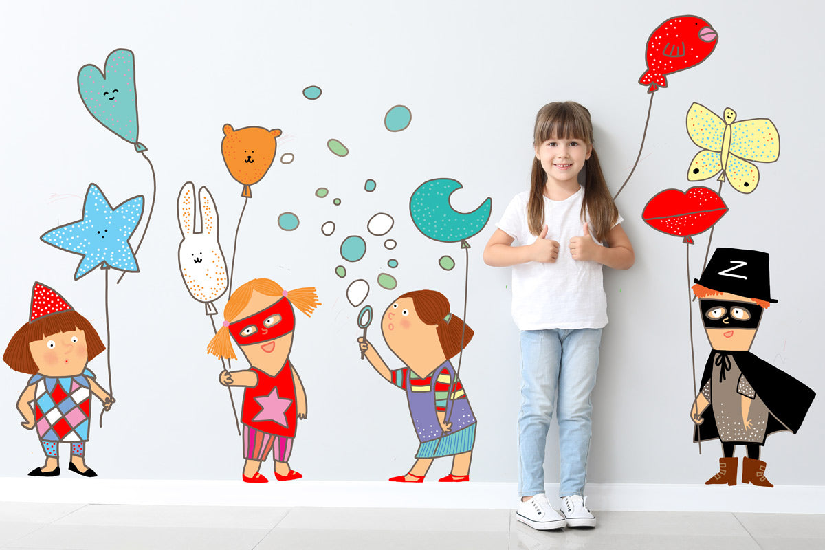 Balloons Wall Decal for Children's Rooms