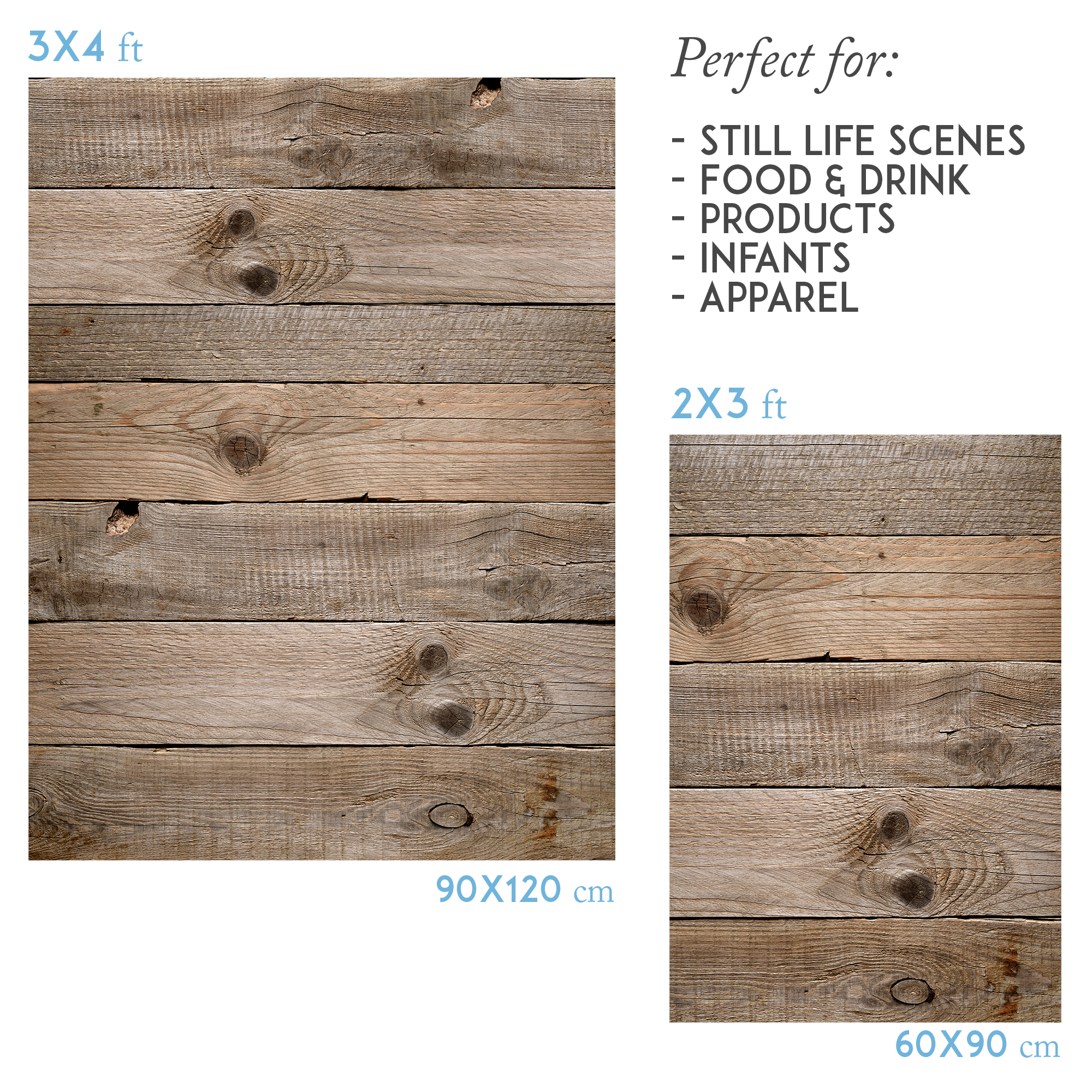 Photography backdrop rustic wood - Lov 835