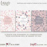 "Alternative guest book canvas ""Confetti"" Pale Pink, Grey - LovaluDesign"