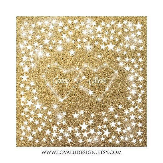 Alternative Guest Book Constellation Love - glitter gold - LovaluDesign