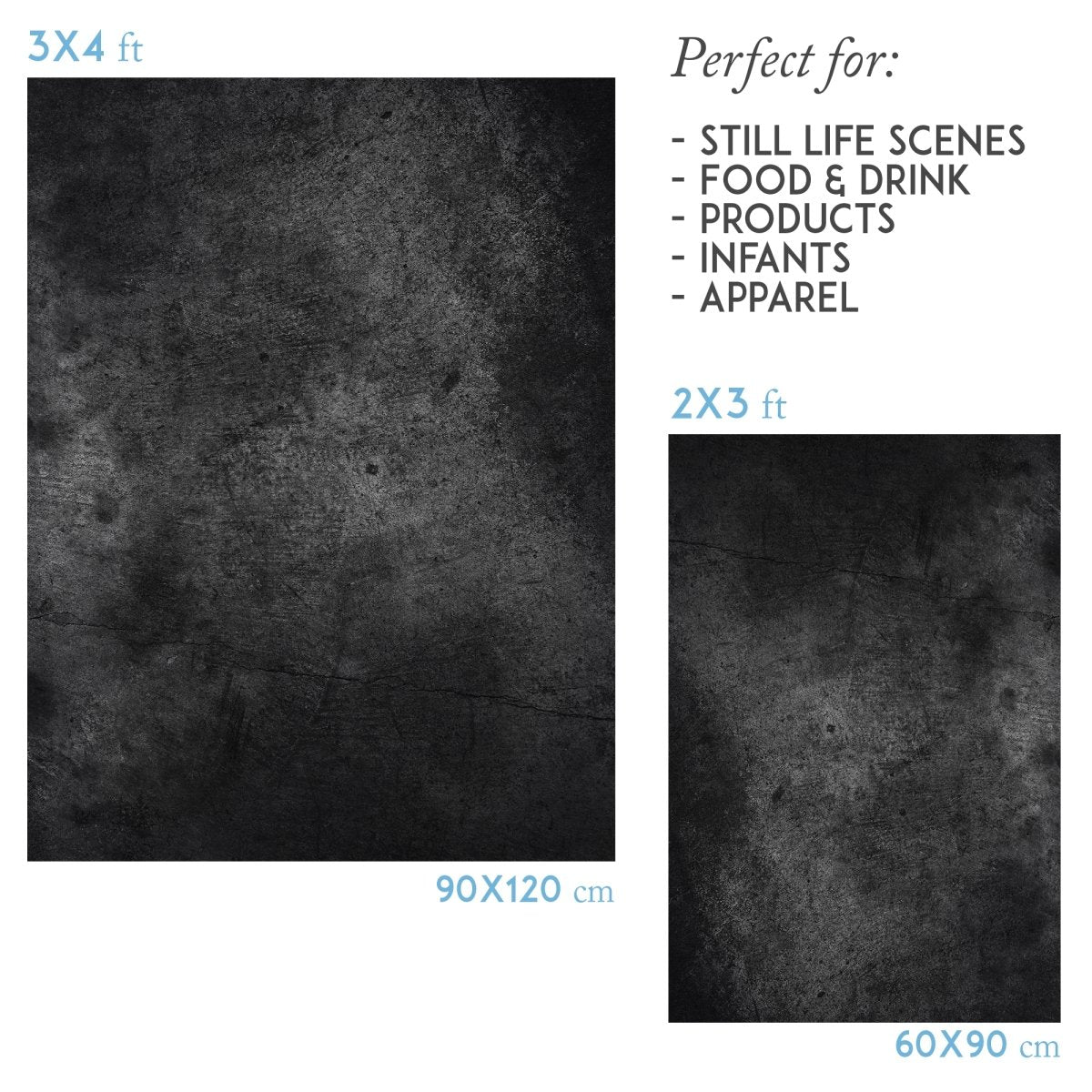 Black stone vinyl Photography Backdrop - lov 390 - LovaluDesign