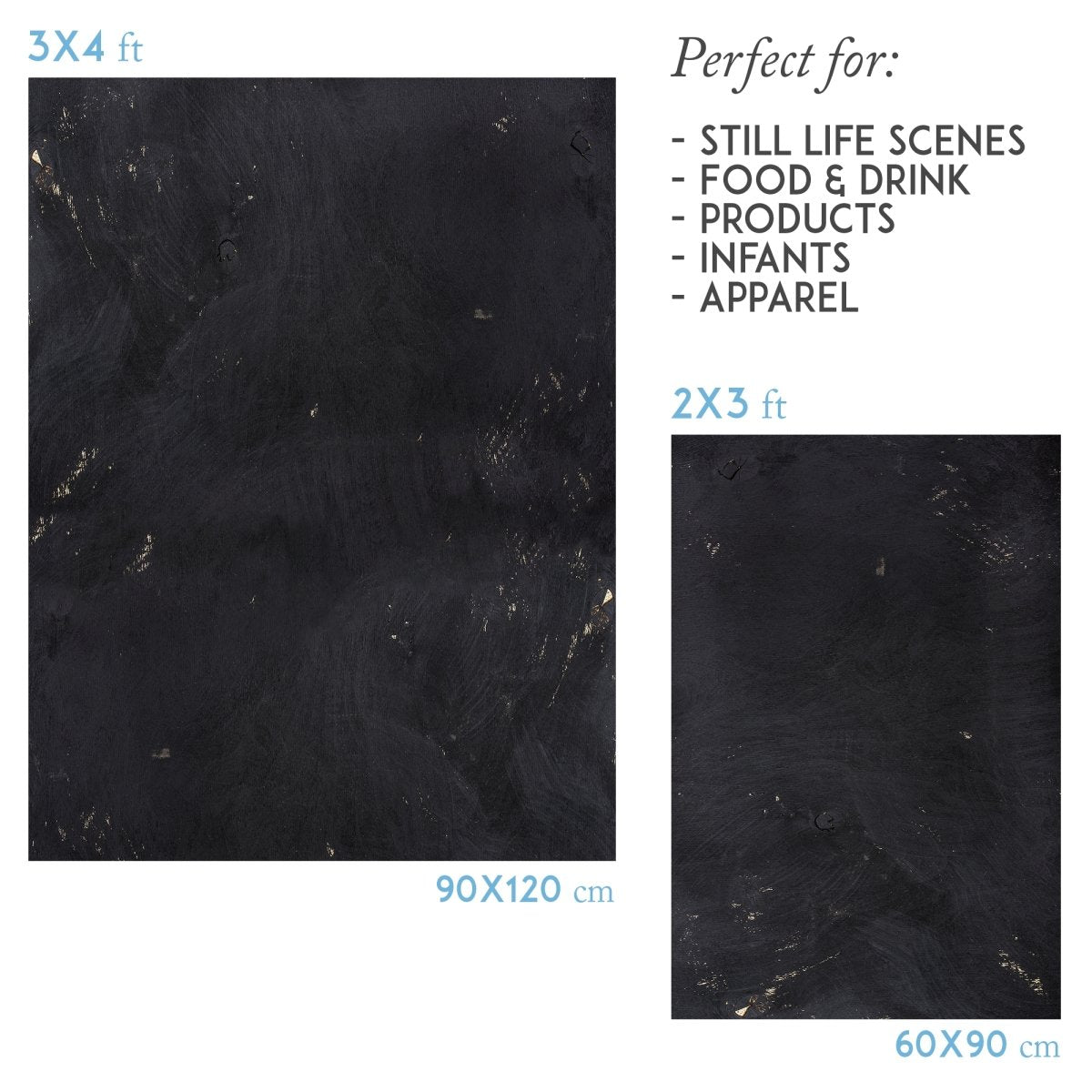 Black stone vinyl photography backdrop - lov 478 - LovaluDesign