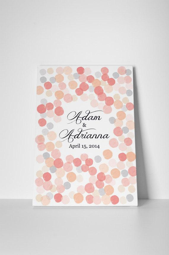 Blush Personalized Guest Book, Rustic Wedding Guest Book Alternative, Custom Guest Book, Rustic Guest Book, Wedding Guestbook Alternative - LovaluDesign