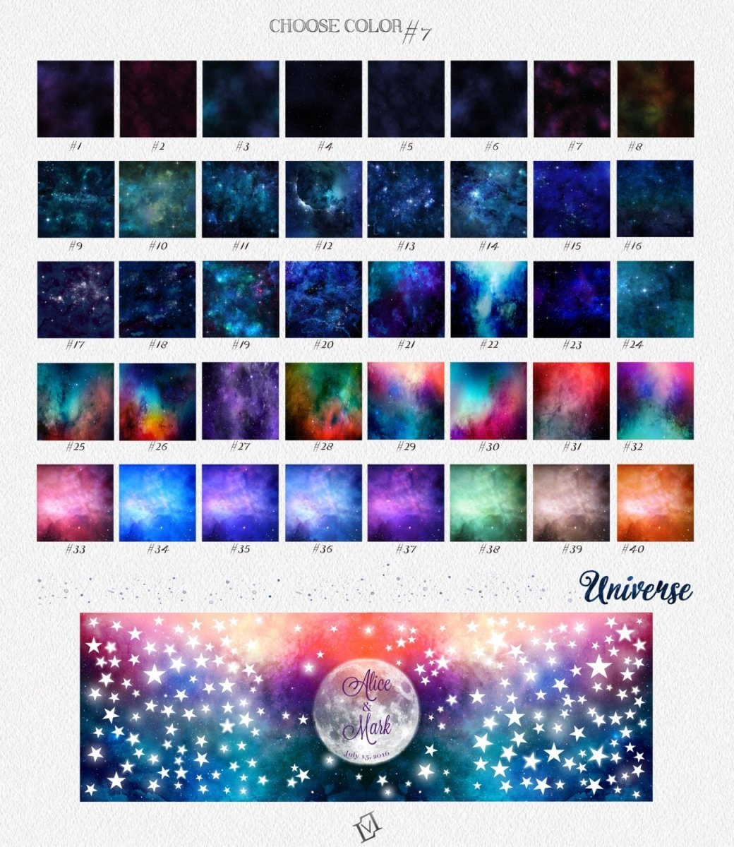 Eternity Love. Infinity Love. Printable Wedding Guestbook 200 signatures on the stars. Choose number of signatures. Print on paper or canvas - LovaluDesign