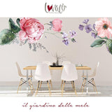 Floral Rose Violets Peel and Stick Wall Decals - LovaluDesign