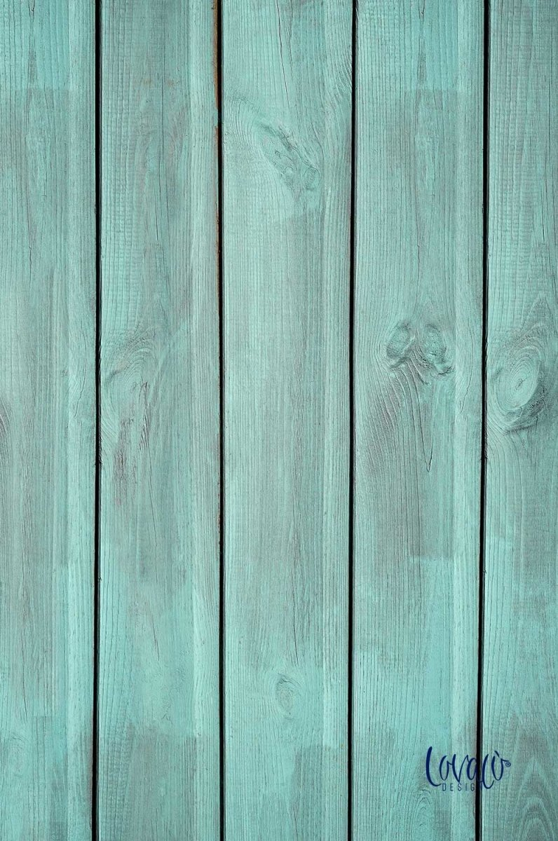 Green wood vinyl photography backdrop - Lov 446 - LovaluDesign