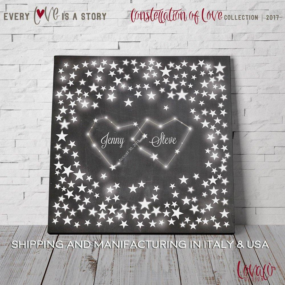 Guest book alternative Constellation stars. Alternative Guest book stars galaxy. Wedding Guestbook stars. Customized guest book - LovaluDesign