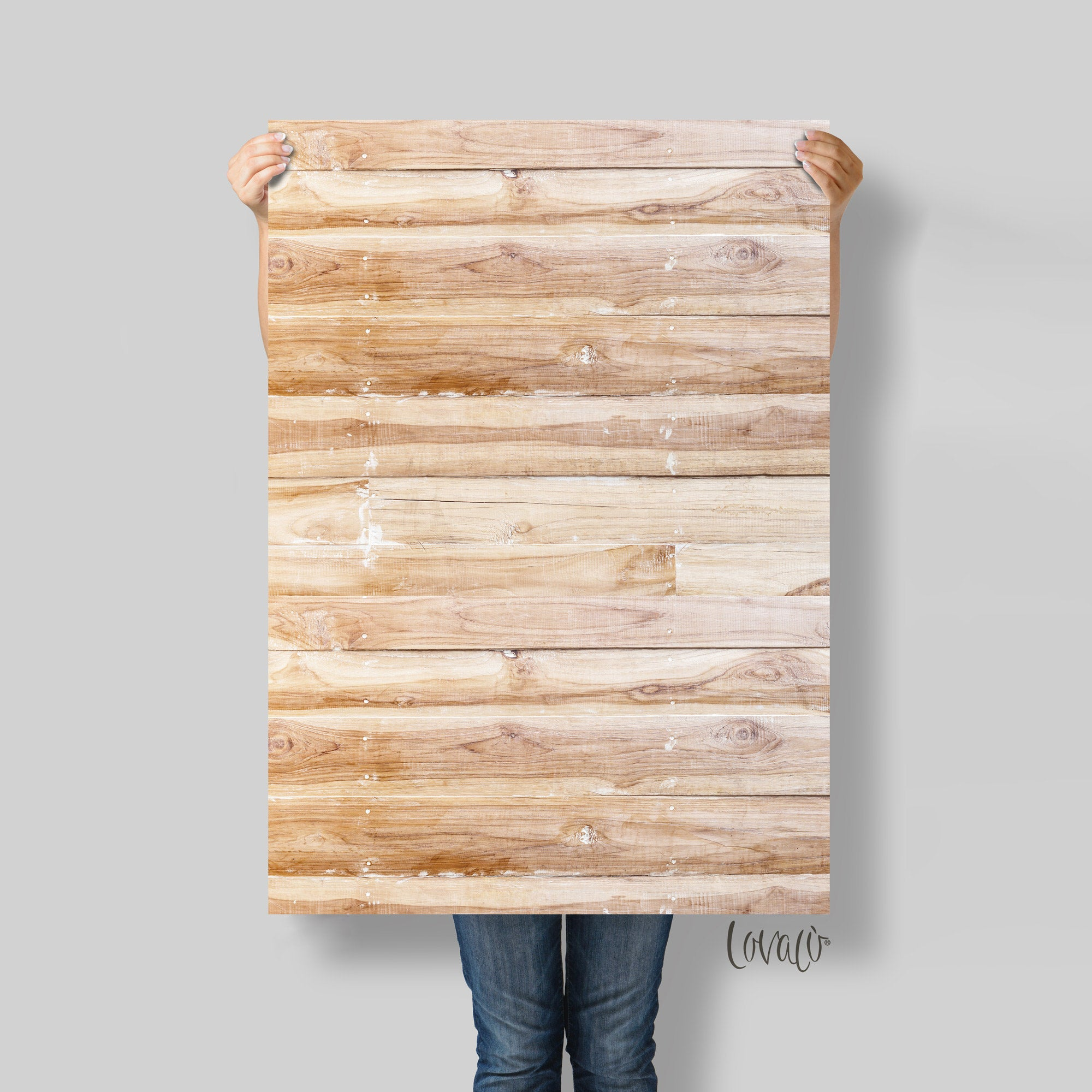 Photo Backdrop natural wood for Product, Instagram, Flat lay & Food Photography - Lov2007