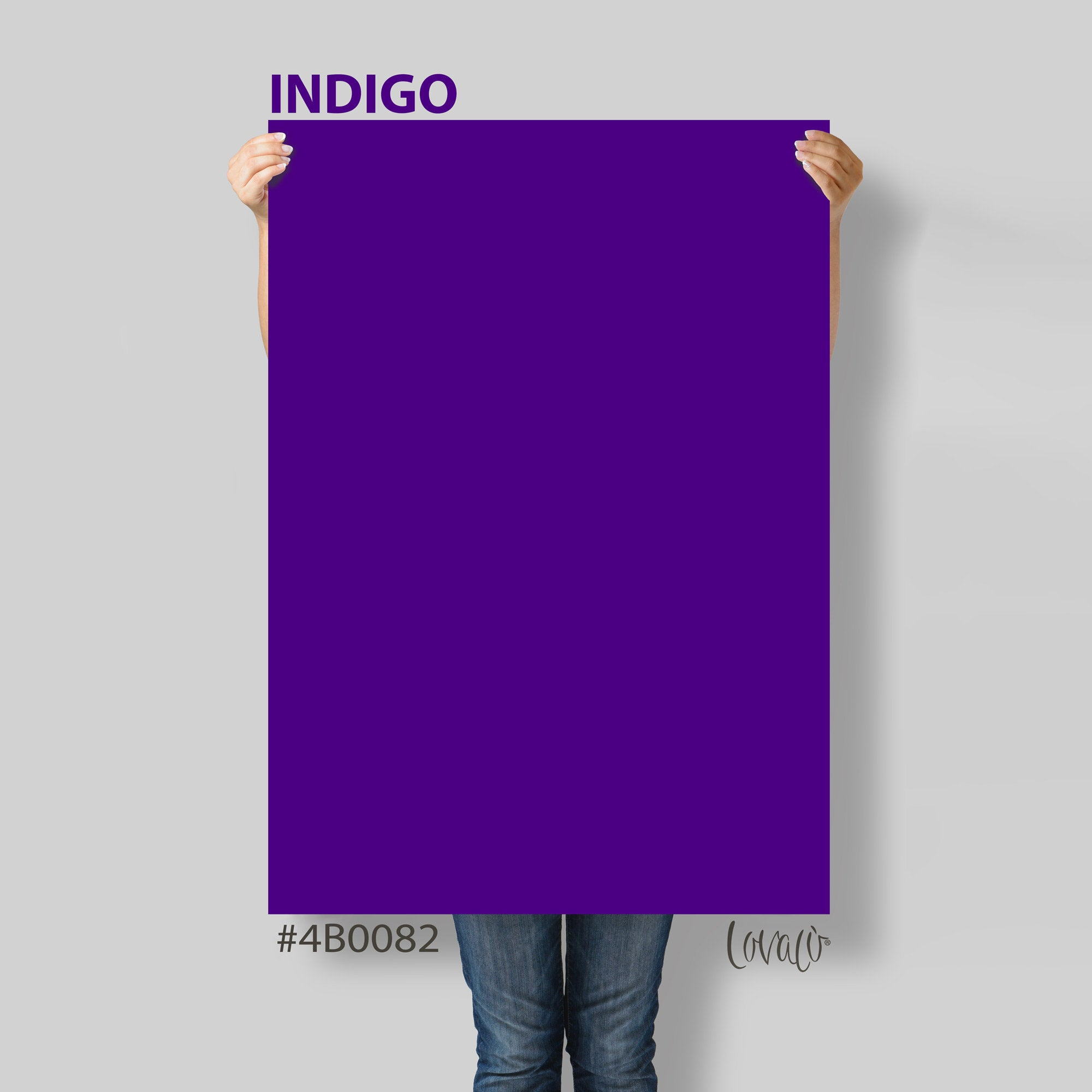 Indigo solid color Photography Backdrop for Product, Instagram, Flat lay, Social, New born & Food Photography - Lov4031