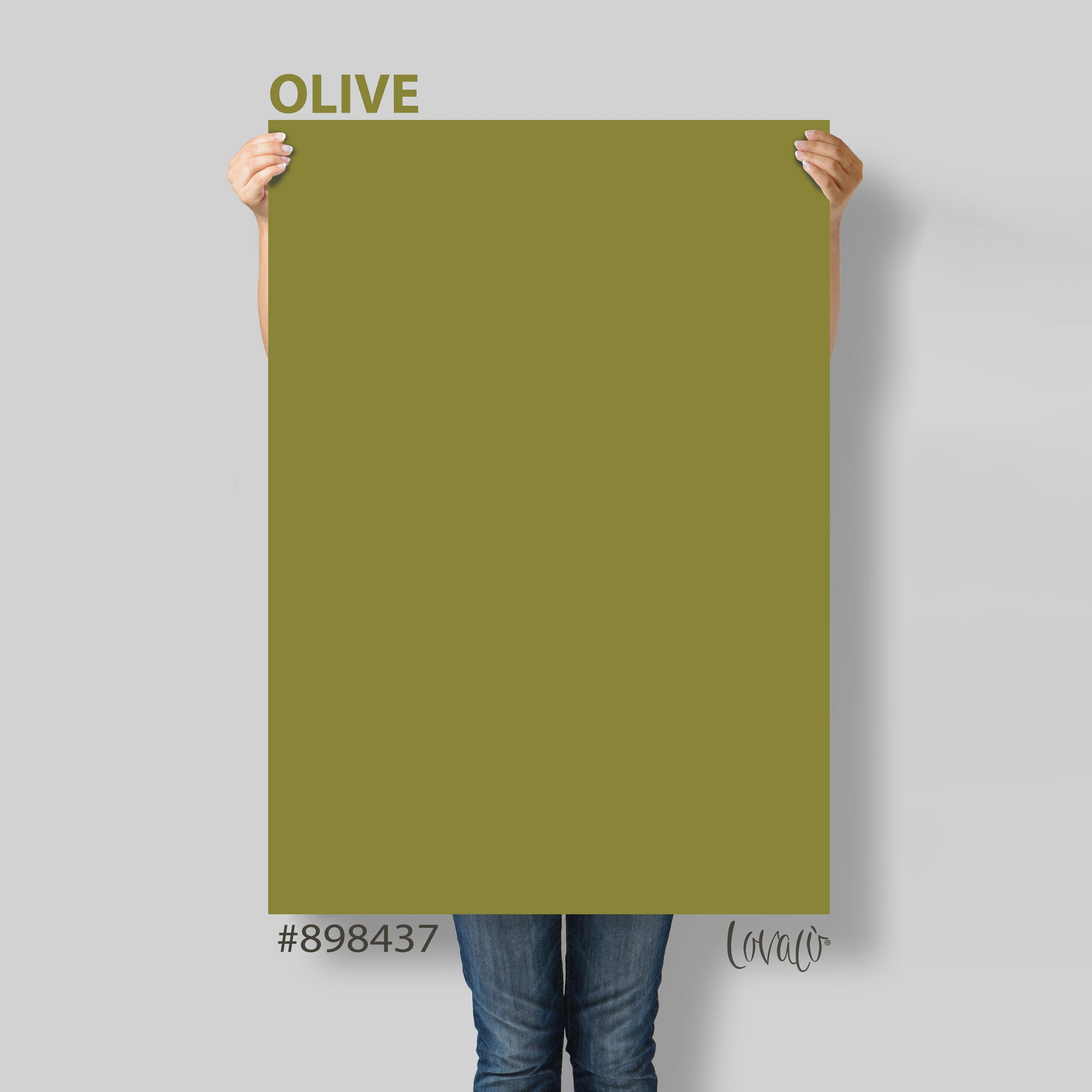 Green Olive solid color Photography Backdrop for Product, Instagram, Flat lay, Social, New born & Food Photography - Lov4030