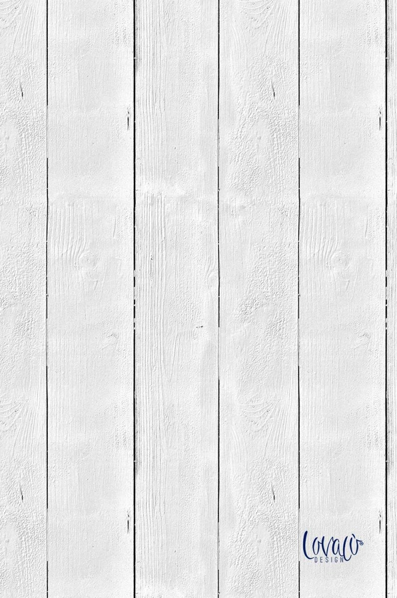 Old White wood vinyl photography backdrop - Lov 469 - LovaluDesign