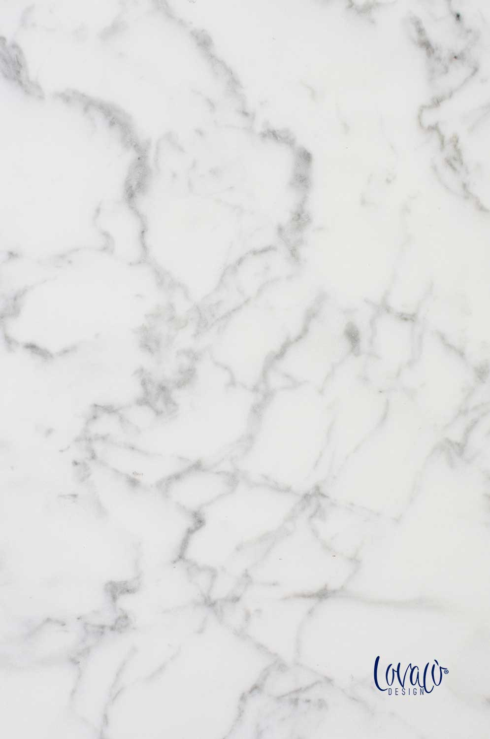 White marble vinyl photography backdrop - Lov 359