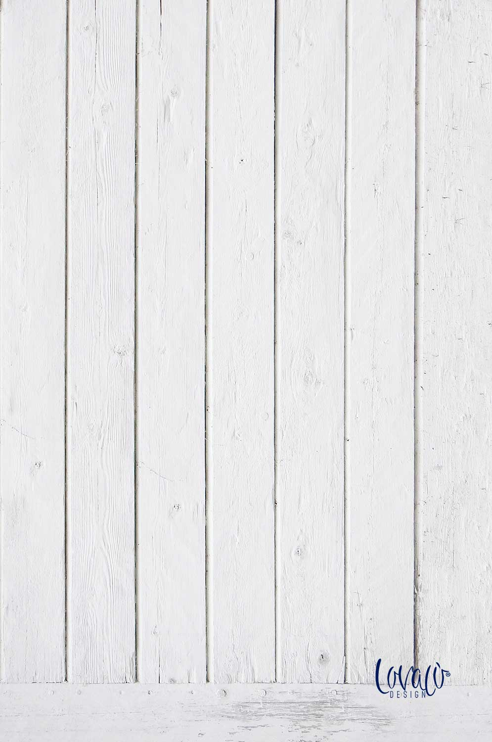 White Wood vinyl photography backdrop - Lov 398