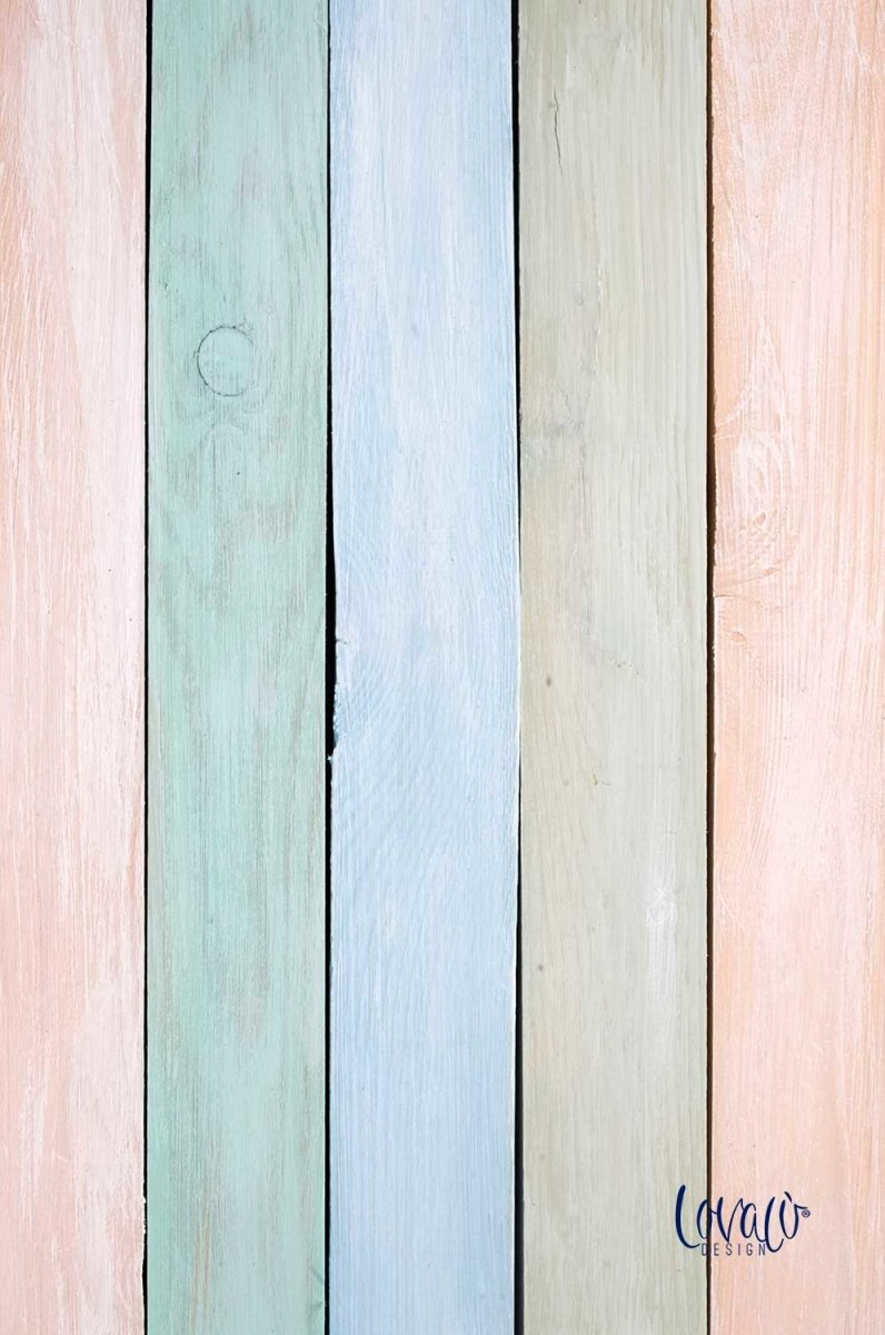 Photography backdrop watercolor rainbow wood - Lov 909 - LovaluDesign