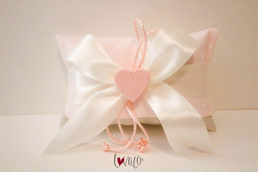 Pink Baby Shower Favors Bag with italian confetti - LovaluDesign