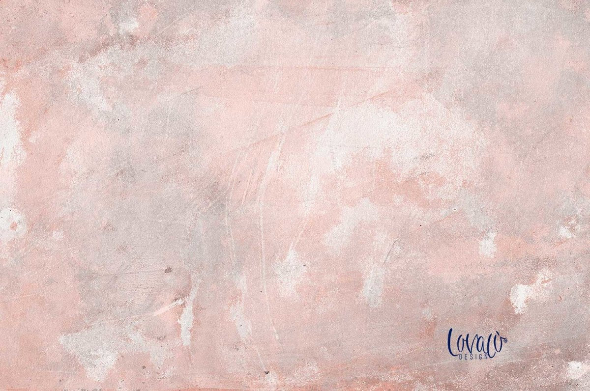 Pink grey Soft Concrete vinyl photography backdrop - Lov 373 - LovaluDesign