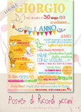 "Poster First Birthday ""little memories""_ Watercolor - LovaluDesign"