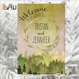 Printable Wedding Sign Rustic Forest woodland watercolor Welcome wedding Sign Wedding Sign Ceremony sign welcome printable Custom names - LovaluDesign