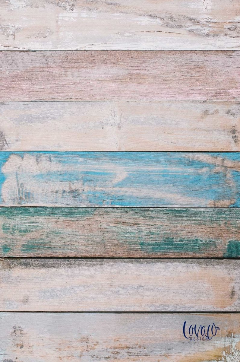 PVC photography backdrop old pastel wood - Lov 906 - LovaluDesign
