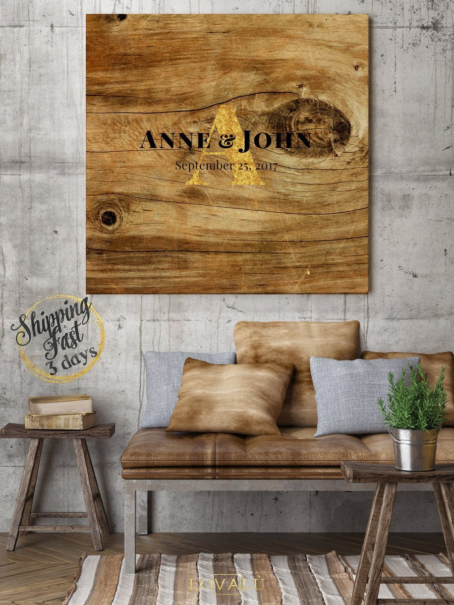 Rustic Wedding guest book. Winter wedding theme. 50 - 300 signatures - Unique Wedding Guest Book - wood graphics printed on canvas - LovaluDesign