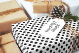 "Scandinavian balloons black & white Wrapping Paper 29x20"" 5 sheets, Holiday Gift Wrap Paper, gift wrap, illustrated holiday gift wrap - LovaluDesign"