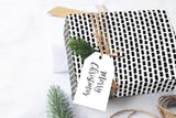 "Scandinavian bricks black & white Wrapping Paper 29x20"" 5 sheets, Holiday Gift Wrap Paper, luxury gift wrap, illustrated holiday gift wrap - LovaluDesign"