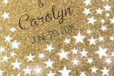 Stars with gold glitter. Unique Wedding Guestbook with stars. Choose number of signatures. - LovaluDesign