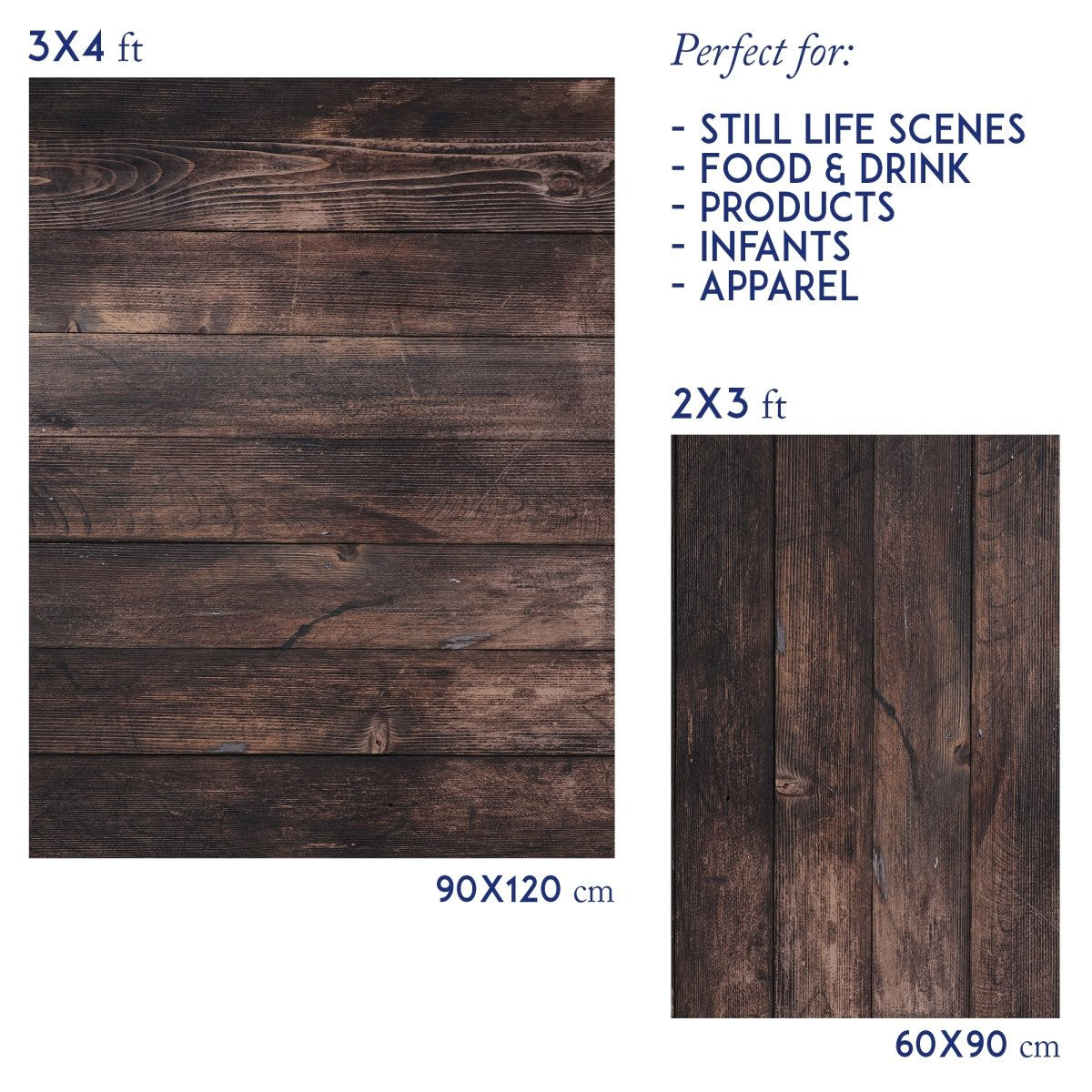 Vinyl photography backdrop old wood - Lov 900 - LovaluDesign