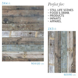 Vinyl photography backdrop wood light blue and brown - Lov 836 - LovaluDesign