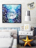 Wedding guest book alternative on canvas Love under the moon Wishing stars Wedding Stars Unique Wedding Keepsake Moon Stars Signature Canvas - LovaluDesign