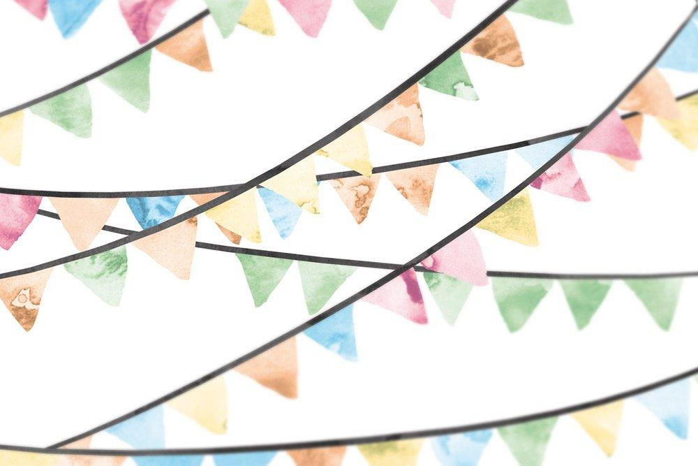 Wedding Guest Book Alternative Pennant Flags - Circus guest book - Retro wedding guestbook 200 Guest Signatures - Modern original Guestbook - LovaluDesign