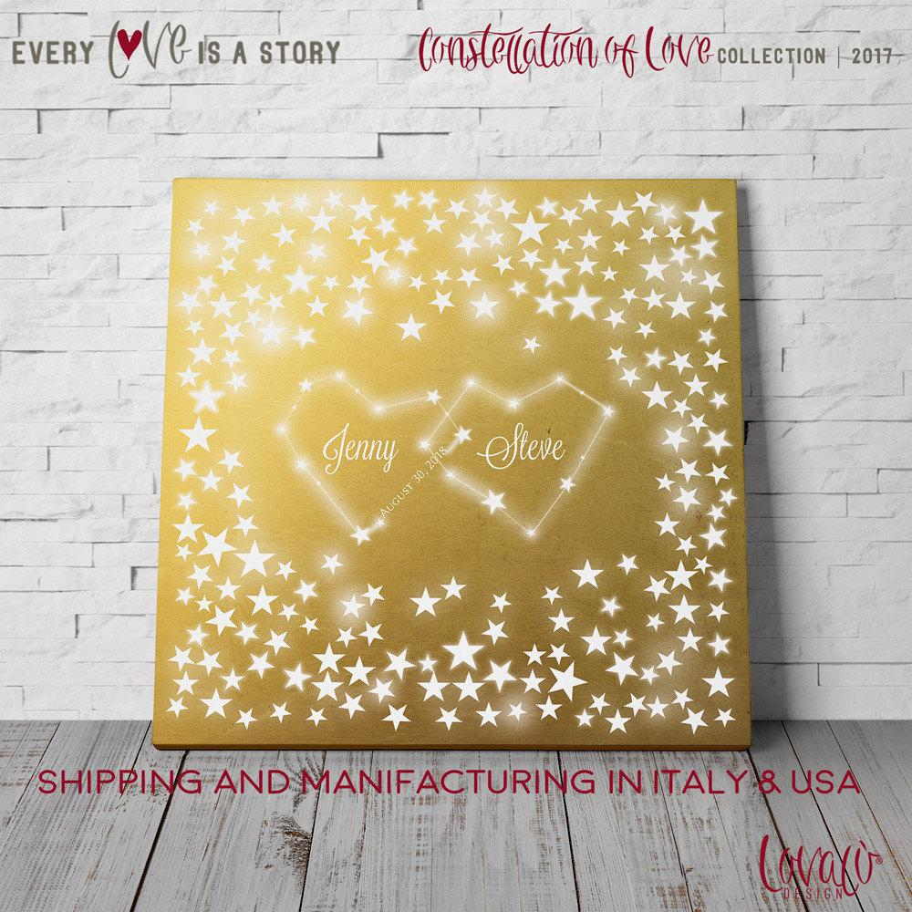 Wedding Guest Book Constellation of Love Starry Guest book Chalk Wedding Guest book Stars Astronomy Guestbook Zodiac Guest book Star Wars - LovaluDesign