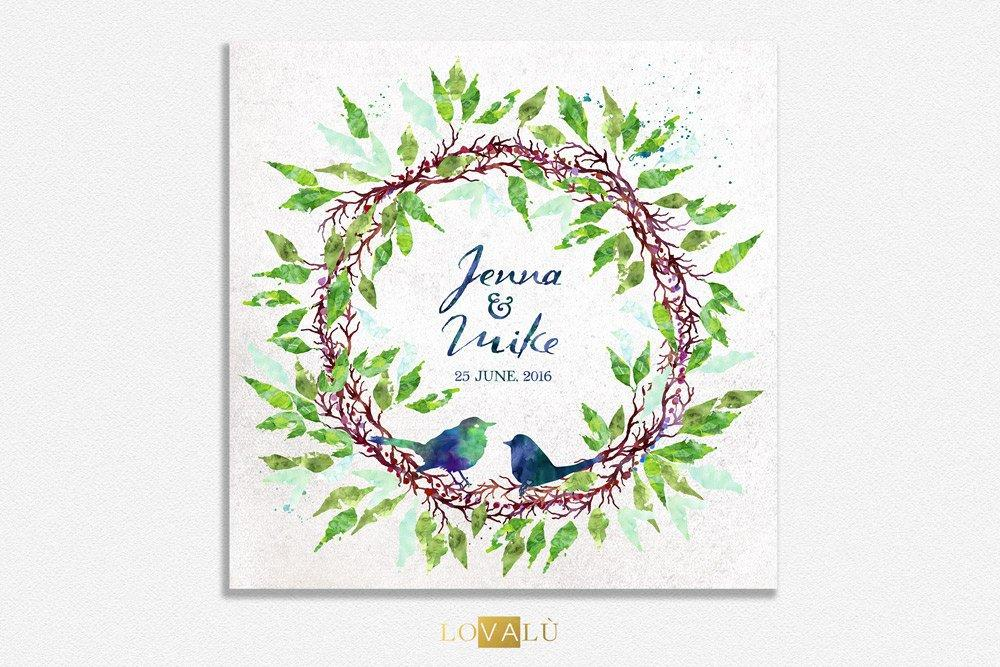 wedding guest book with a birds nest. Green Custom Wedding Guestbook Alternative Wedding Print Guest Book Custom canvas wedding guest book - LovaluDesign