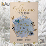 Welcome Wedding Sign Welcome Wedding Printable Wedding Sign Wedding Poster Board DIY Template PDF Instant Download Floral wedding reception - LovaluDesign