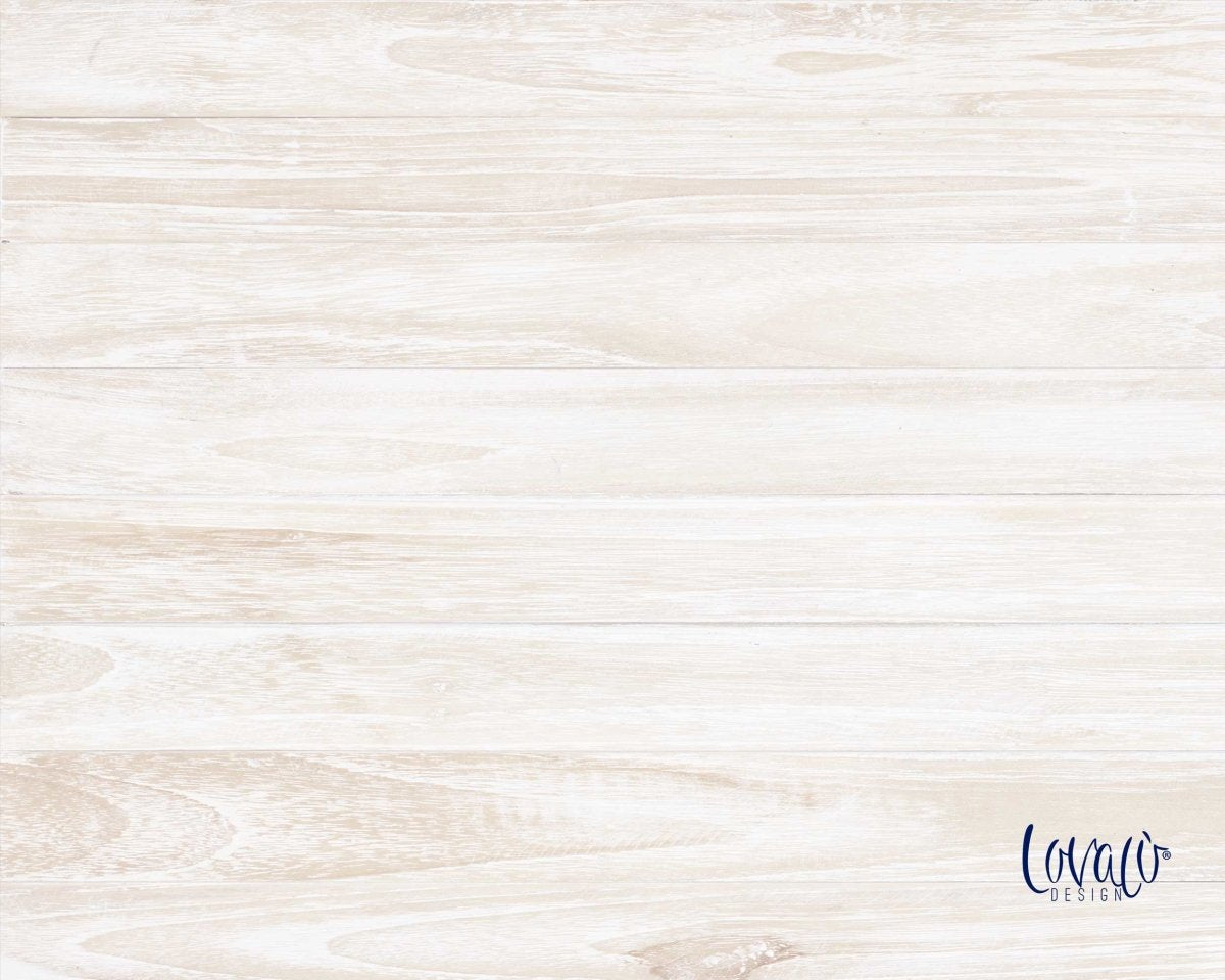 White Natural wood vinyl photography backdrop - Lov 727 - LovaluDesign