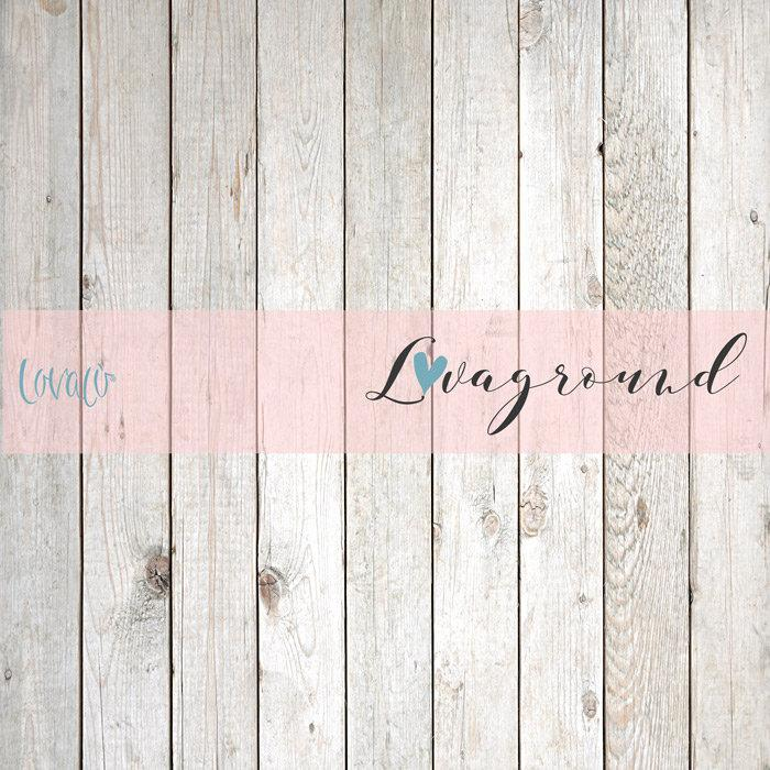White wood vinyl photography backdrop - Lov 100 - LovaluDesign