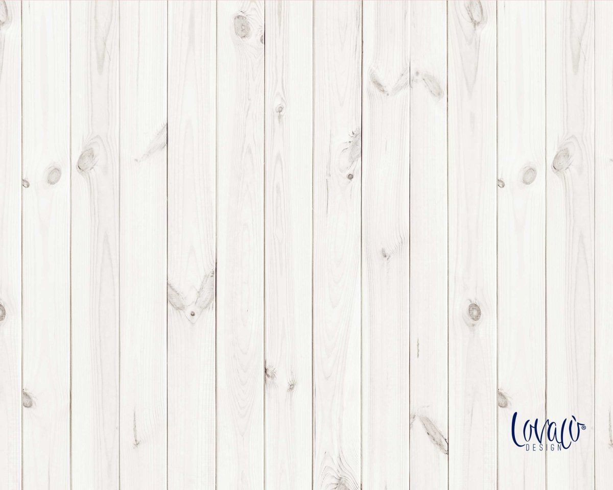 White wood vinyl photography backdrop - Lov 367 - LovaluDesign