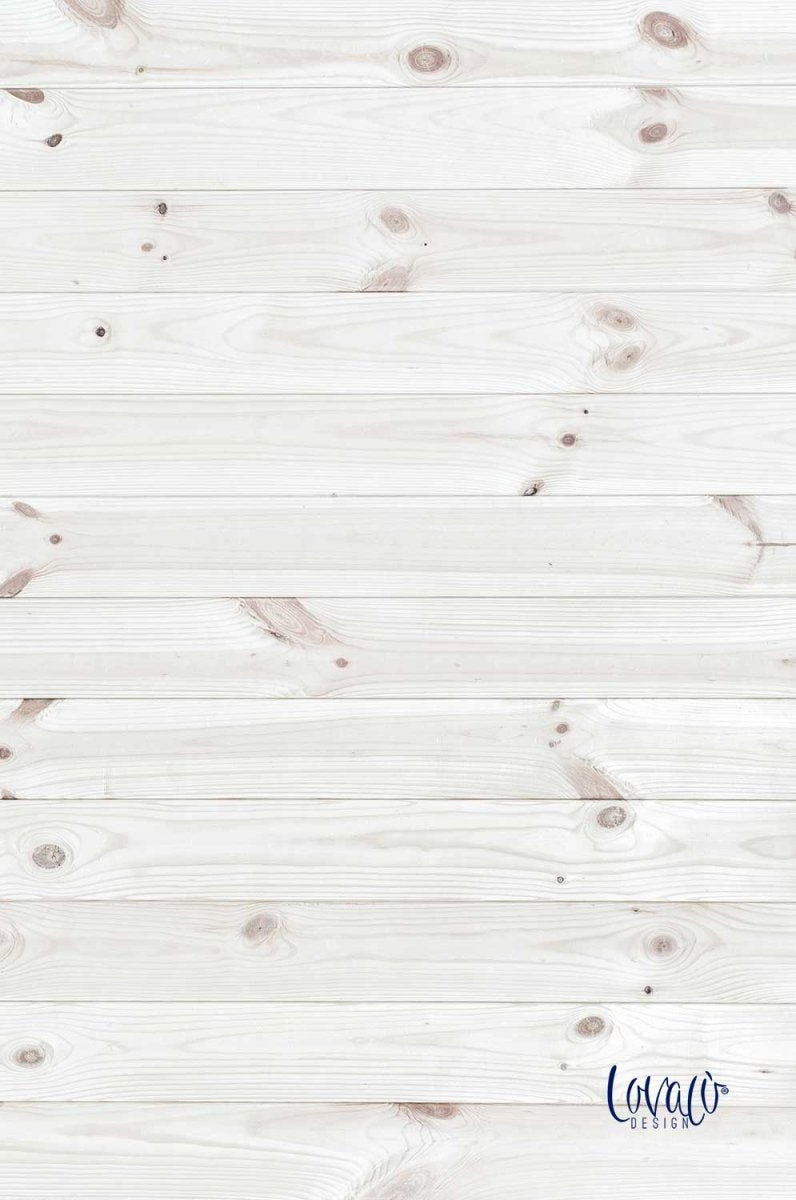 White wood vinyl photography backdrop - Lov 368 - LovaluDesign
