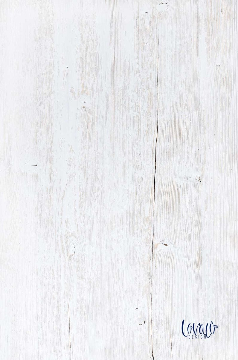 White Wood vinyl photography backdrop - Lov 491 - LovaluDesign