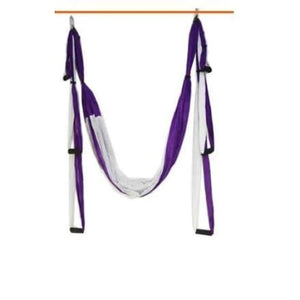 1 Aerial Yoga Hammock - purple -white / China