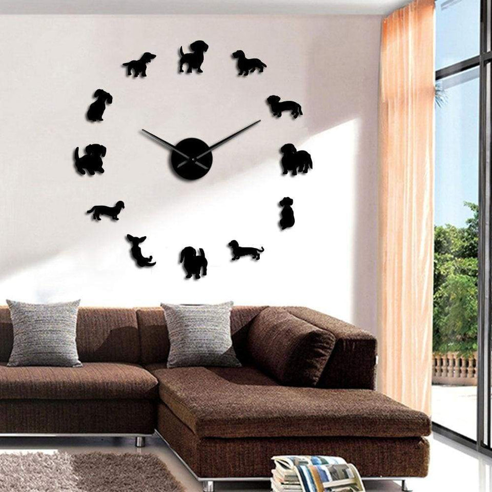 #1 Dachshund Wall Clock