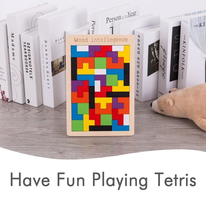 #1 Tetris Wooden Puzzle Toy