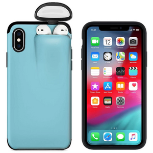2-In-1 iPhone & AirPods Case - Buy 1 get 30% off 2nd - iPhone 7 plus / skyblue - phone accessories