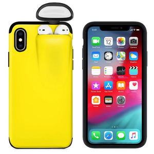 2-In-1 iPhone & AirPods Case - Buy 1 get 30% off 2nd - iPhone 7 8 / yellow - phone accessories