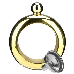 3.5oz Bangle Bracelet Hip Flask - Gold - Consumer Goods